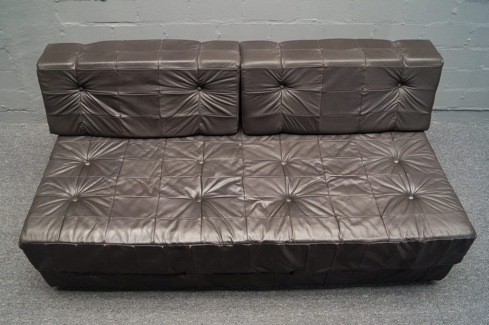 stilraum nuremberg sofa 2 armchairs leather patchwork. Black Bedroom Furniture Sets. Home Design Ideas